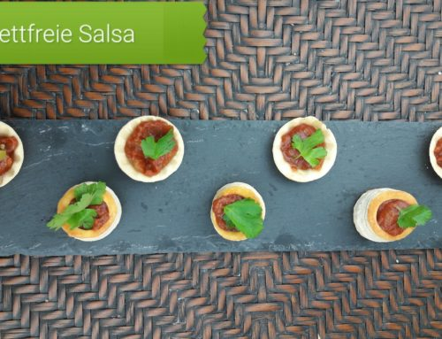 Party Cups mit fettfreie Salsa