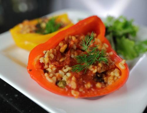Gefüllte Paprika mit Bulgur Mexicana – Willst Du das Produkt nachkochen? Hier ist das Video!