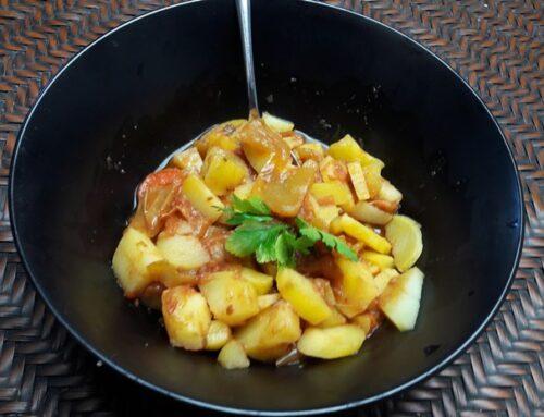 Kartoffeln mit N4U food Gjuvec und Curry